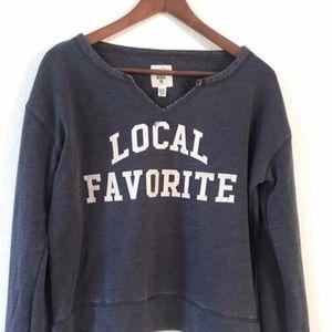 "Billabong ""Local Favorite"" Distressed Sweatshirt"
